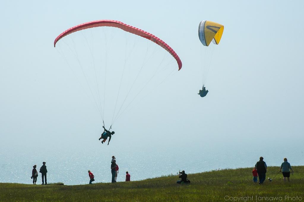 Paragliding at ales stenar