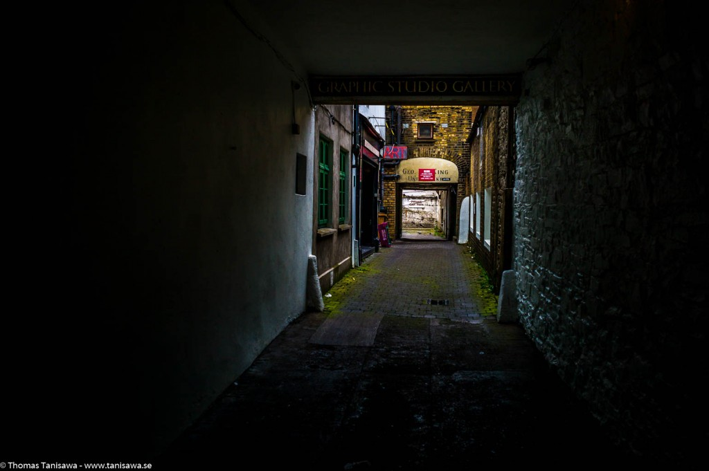 dark alley in dublin