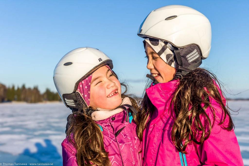 sisters ice skating