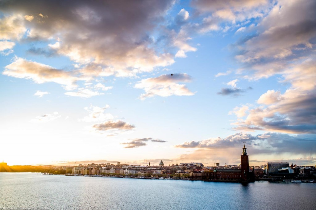 stockholm in sunset