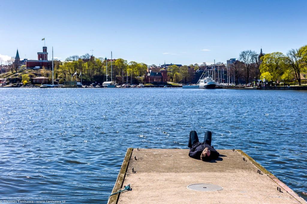 stockholm sleeping in the sun